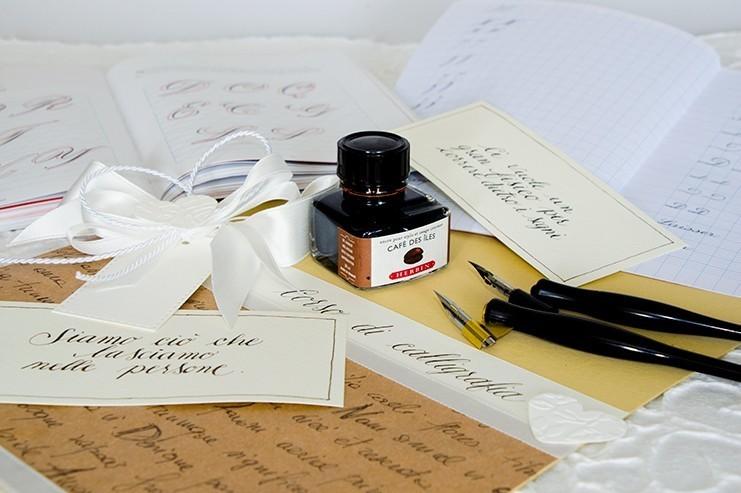 Penne Calligtrafiche e inchiostro