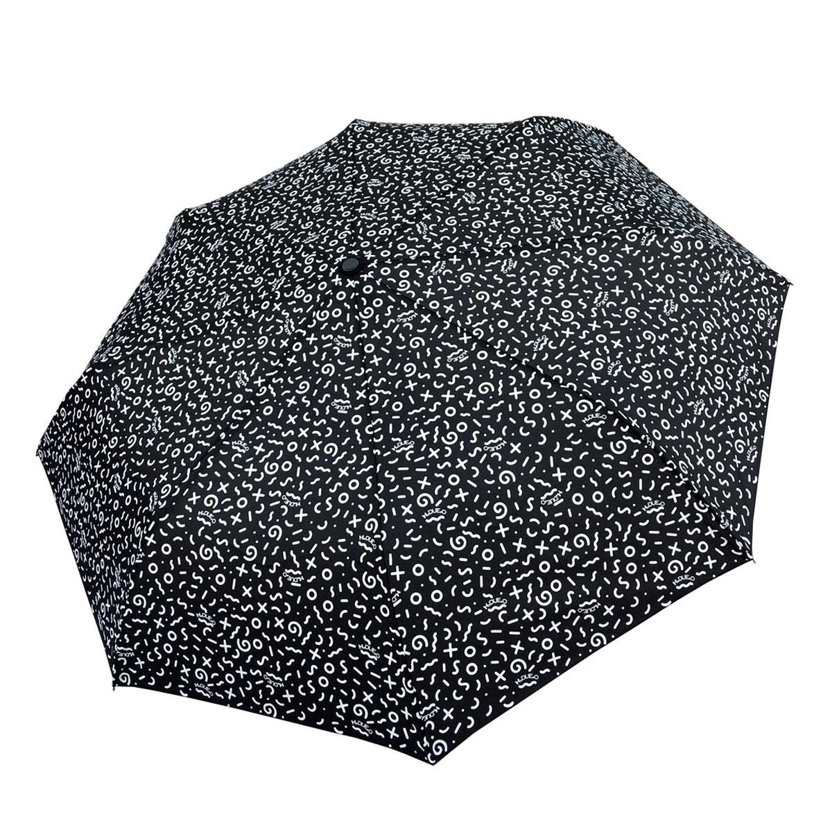Ombrello mini H-130 (paperella) nero aperto - H.2.O
